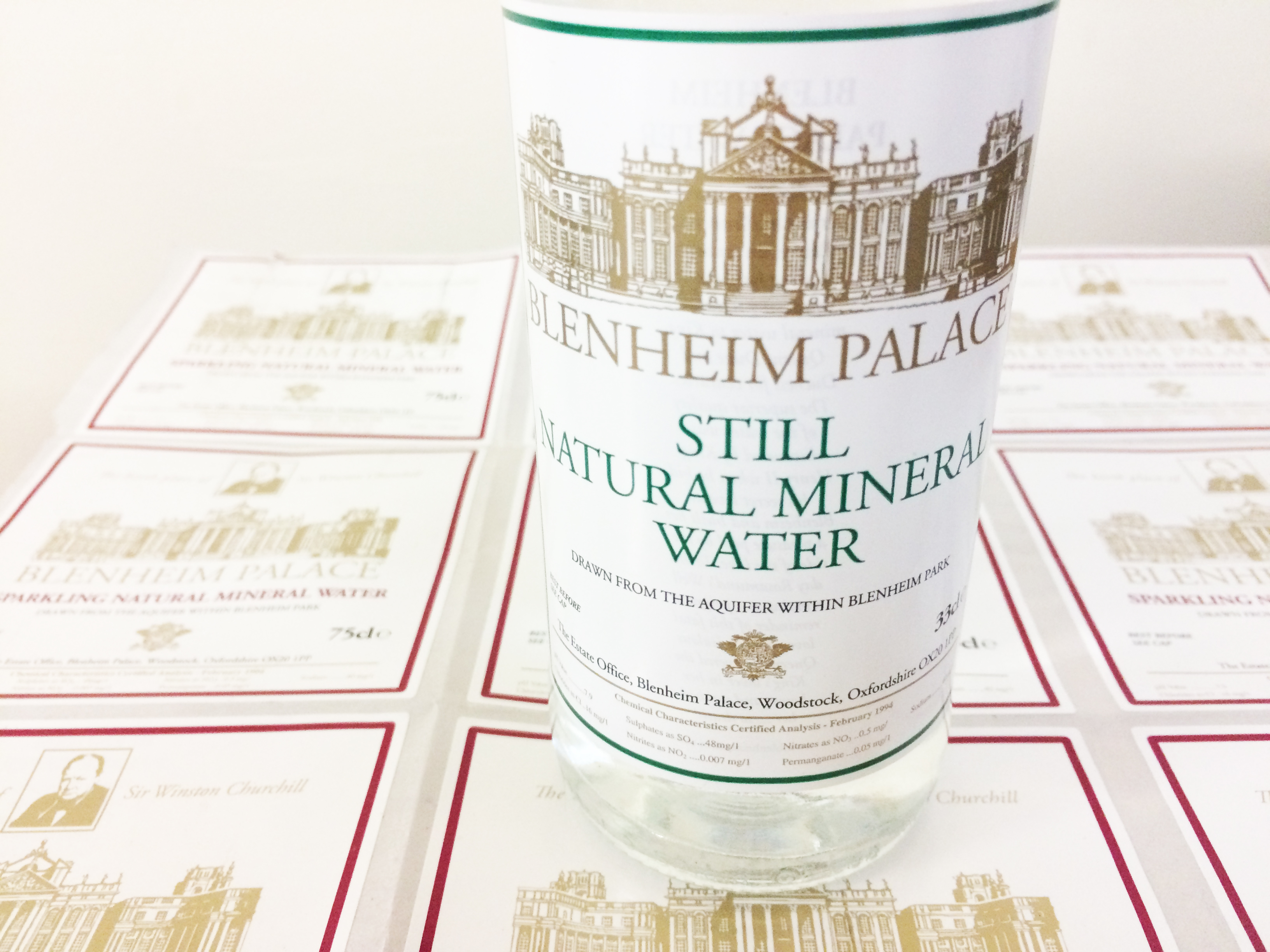 Limited Edition Blenheim Palace Water | Labels