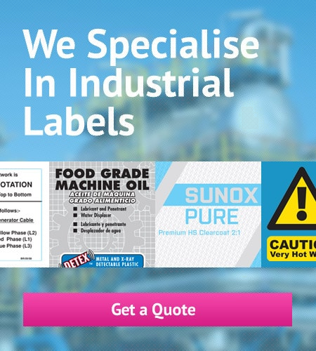 We Specialise in Industrial Labels